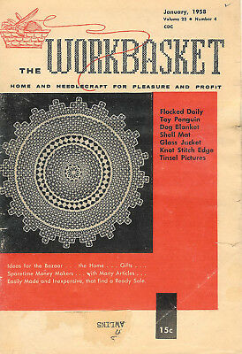 1958 Eleven Issues of The Workbasket Magazine Vol. 23 No. 4 To Vol. 24 No. 2