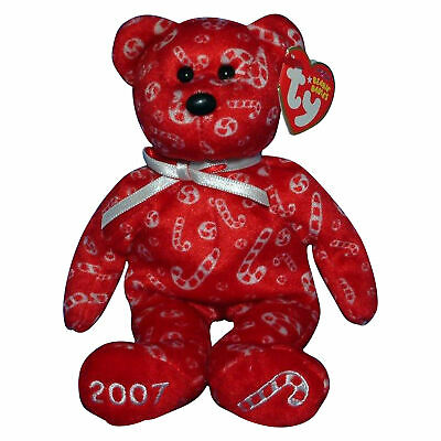 8024989a3a5 TY BEANIE BABY Candy Canes Red - MWMT