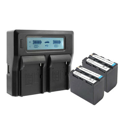 CGPro Dual Channel Charger with LCD Display For NP-F970 Battery Kit UK