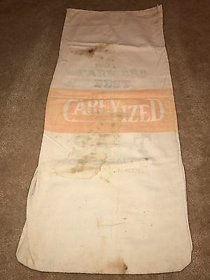 Vintage Farmers Best Carey Ized Salt Feed Sack Huchinson Kanas Unopened I