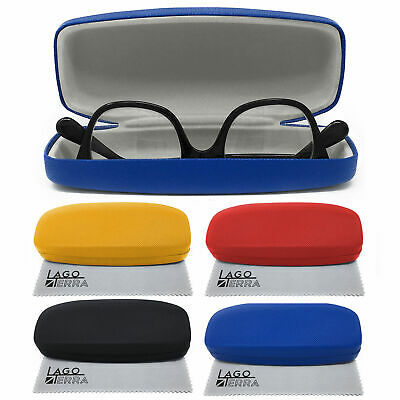 LAGO TERRA Protective Snap Shut Hard Glasses Case Sunglasses Optical Travel Box