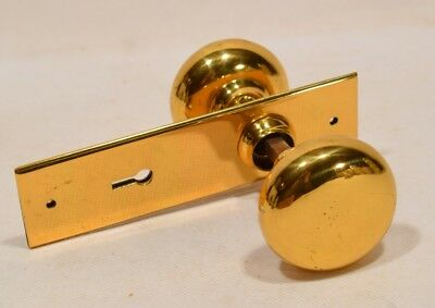 Antique Doorknob & Plates Set Completely Restored