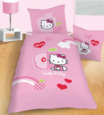 "*NEU* Bettwäsche HELLO KITTY ""Apple Pink"" 135 x 200 cm Sanrio"