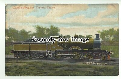 "ry1320 - London to Brighton Express Engine "" Emperor"" No.?5 - postcard"