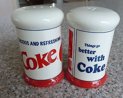"Coca Cola Salt & Pepper Shakers ""Ice Cold Sold Here"" COKE"