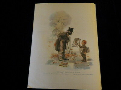"Vtg 1916 Cream of Wheat Ad  Sho Dats De Papah Ah Wants 9""x12"" Black Americana J4"