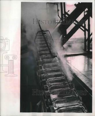 1964 Press Photo Cast ingots of brass at Milwaukee Smelting and Refinery Co.