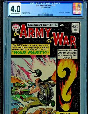 Our Army at War #151 DC Comics 1965 1st Enemy Ace CGC Graded 4.0