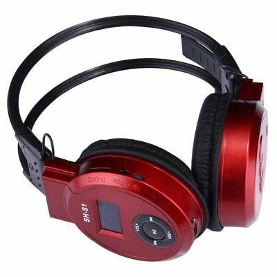 Sport MP3 Player LCD Foldable Wireless Headset Headphone FM Radio TF Card