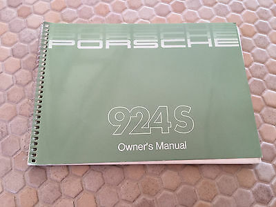 Porsche Official Original 924 S Coupe Owners Manual Brochure Usa Edition 1987