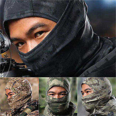 Camouflage Balaclava Motorcycle Cycling Tactical Neck Protecting Full Face Mask
