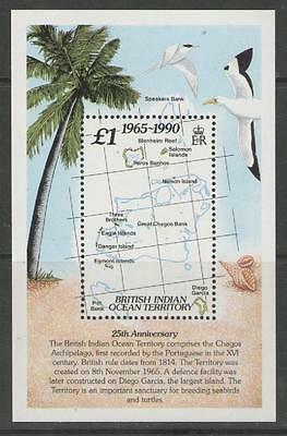BRITISH INDIAN OCEAN TERR SGMS110 1990 25th ANNIVERSARY MNH