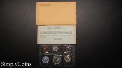 1959 Proof Set ~ Original Envelope With COA ~ US Mint Silver Coin Lot SKU-945