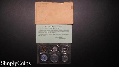 1959 Proof Set ~ Original Envelope With COA ~ US Mint Silver Coin Lot SKU-951
