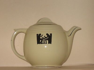 Vintage Hall Superior Quality Kitchenware Silhouette 5 Band Coffee Pot 22
