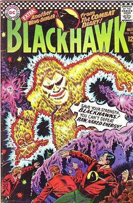 Blackhawk  # 222  strict  FN  1st   appearance  The Man from E=Mc2