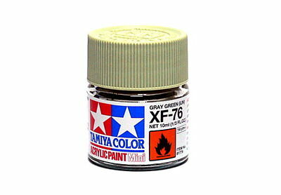 2x Tamiya Model Color Acrylic Paint XF-76 Gray Green (IJN) Net 10ml 81776 CA284