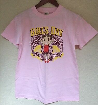 Japanese Girl's Day T shirt Girls Child Size Large pink with yellow lettering