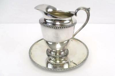 Eagle Wm Rogers Star Silver Water Wine Pitcher Gadroon # 3617 Avon Underplate