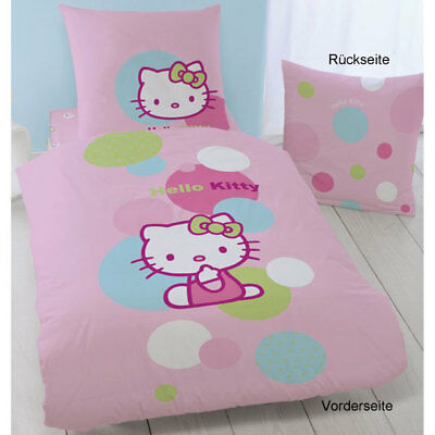 *NEU* Bettwäsche HELLO KITTY Balloon Biber Ballon Sanrio Flanell