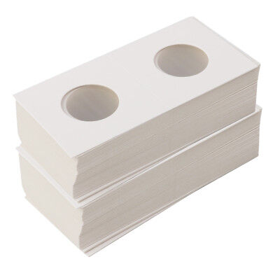 100X Cardboard Coin Holders Flips Mylar Coin Collection Supply 23/33mm White