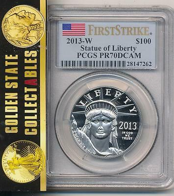 2013 W $100 Proof Platinum Eagle 1Oz. Pcgs Pr70 First Strike Semi Key Pop 334
