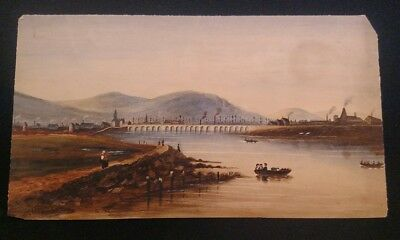 Antique 19th century  Watercolor likely English