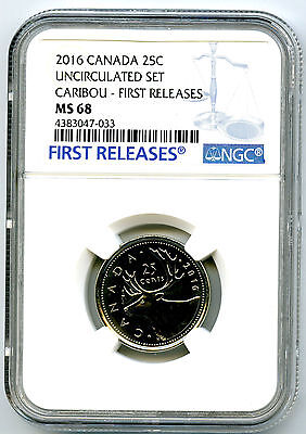 2016 Canada 25 Cent Quarter Ngc Ms68 First Releases Proof Like Very Rare Top Pop