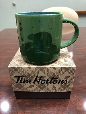 New 2017 TIM HORTON CHRISTMAS COFFEE MUG BEAVER RARE