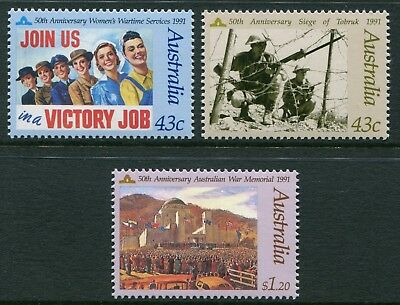 In Memory Of Those Who Served 1991 - Mnh Set Of Three (Bl313-Et1-Rr1)