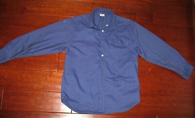 Old Navy French Blue Long Sleeve Button Down Shirt Boys Size Large VGUC
