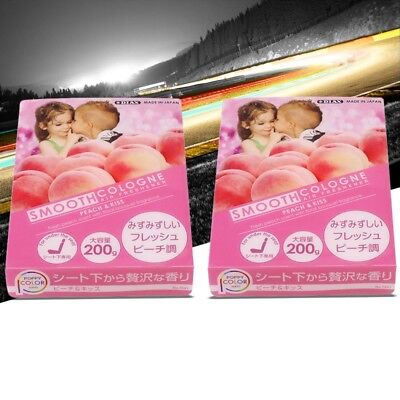 2xSmooth Cologne Peach Scent  Interior/Home/Car/Toilet Air Freshener Eliminator