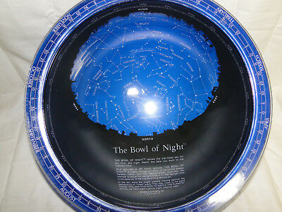 Vintage 1982 Spherical Concepts Bowl of Night Planisphere Transparent Globe