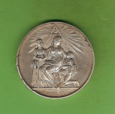 #d344. 1830 Silver Masonic Medal - Duke Of Sussex M.w. Grand Master