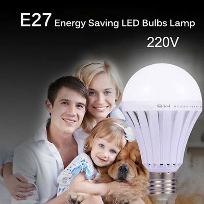 E27 Rechargeable White LED Emergency Light Bulb 5/7/9/W Lamp for Camping Hunting