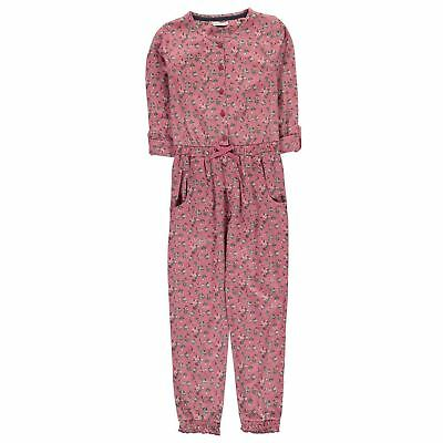 Crafted Kids Girls Jumpsuit Child Long Sleeve Lightweight Cotton Pattern
