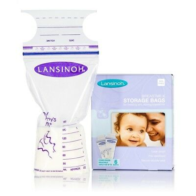 Lansinoh Milk Storage Bags Pack of 25 or 50 Leak Proof Pre Sterilised