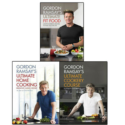 Gordon Ramsay's Collection 3 Books Set Ultimate Fit Food, Ultimate Home Cooking