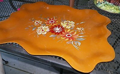 """Gorgeous Old Vintage Celluloid Hand Painted Tray - Large 17x23"""""""