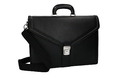 Cartella PIERRE CARDIN borsa professionale nero pelle Made in Italy VH74 2942c48af97