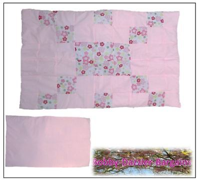 Brand New Bespoke Handmade Baby Quilt, Cot /Toddler Bed,Pink patchwork coverlet