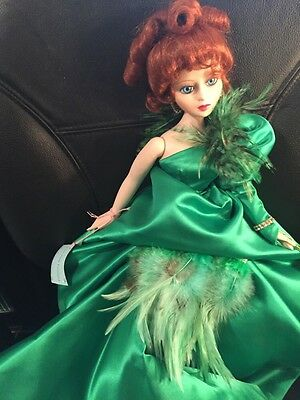 "Madame Alexander DAZZLING EMERALD 79830 Porcelain 16"" Doll Box  COA free US ship"