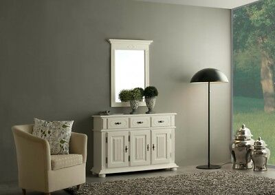 alter wei er holz spiegel shabby chic nostalgie. Black Bedroom Furniture Sets. Home Design Ideas