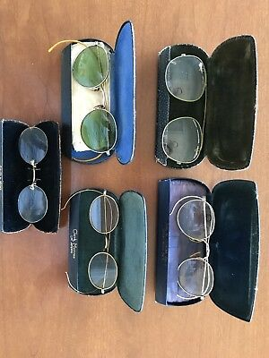 antique/vintage reading glasses (lot of 5)