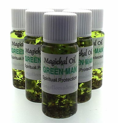 Green Man Herbal Magickal Anointing 10ml Oil Spritual Protection