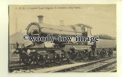 ry1044 - G.W.R. Four Coupled Bogie Express Locomotive (City Class) - postcard