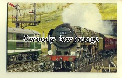 ry1046 - E.R. Norwich Express headed by Britannia No.70041 at Ipswich - postcard
