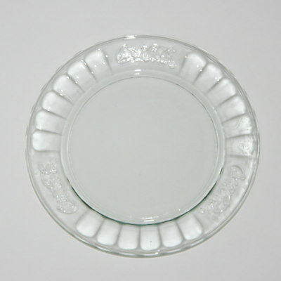 "COCA-COLA Clear Glass 7.35"" Embossed Collectible Plate COKE"