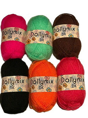 King Cole Dolly Mix DK - Pack of 6 x 25g balls