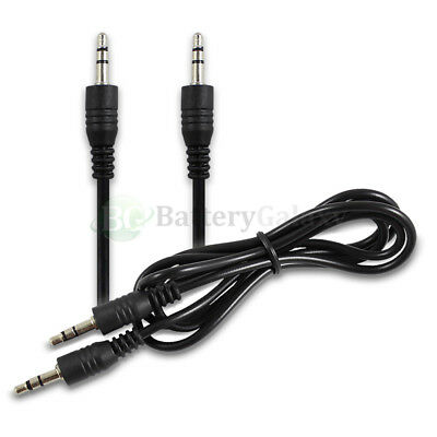 100X 3FT 3.5mm Male to Male Stereo Audio AUX Cable Cord for PC iPod CAR iPhone